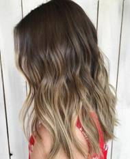 light brown with balayage