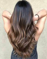 Light Brown With a Delicate Balayage